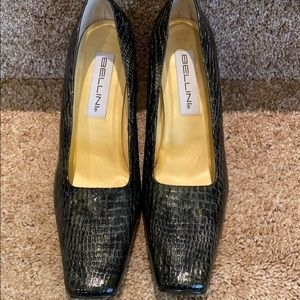 Bellini wide heeled pumps.